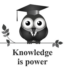 Monochrome knowledge is power message