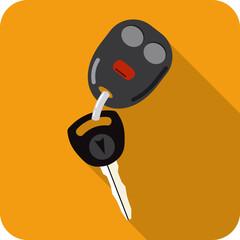 Vector Car Key and Keychain