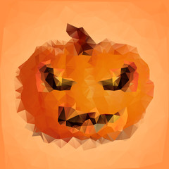 polygonal halloween pumpkin