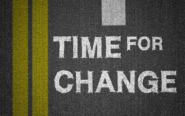 time for change on road background