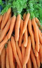 Mazzo di carote biologiche