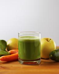 Homemade vegan green juice