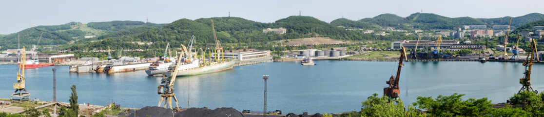 Primorsky Shiprepairing plant. Panorama