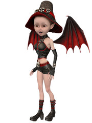 Beautiful toon witch girl