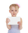 canvas print picture - girl with an envelope