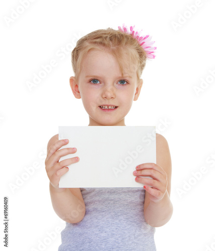 canvas print picture girl with an envelope