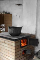 Old boiler rustic stove