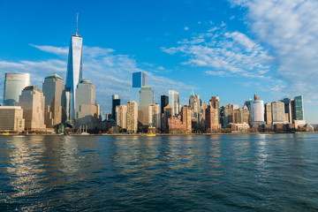 Panorama of downtown Manhattan