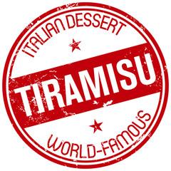 tiramisu dessert stamp