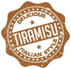 delicious tiramisu stamp