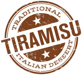 traditional tiramisu stamp