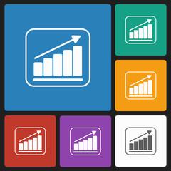 grow graph icon