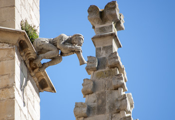 Gargoyle.Montblanc church.Catalonia.Spain