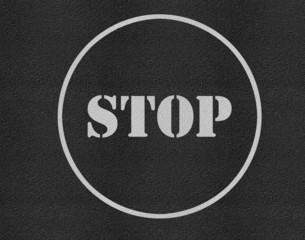 Stop sign asphalt highway road texture