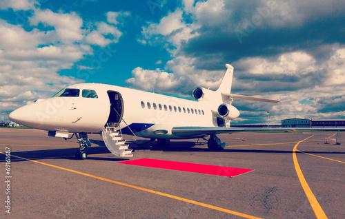 ladder in a private jet - 69161687