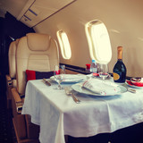 Luxury interior aircraft business aviation
