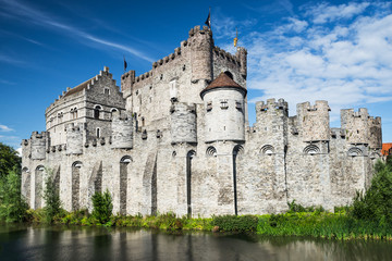 Gravensteen Castle and Lieve River, Ghent