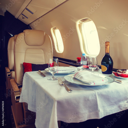 Deurstickers Vliegtuig Luxury interior aircraft business aviation