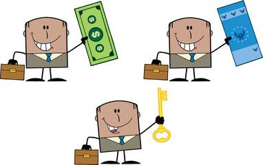 Businessman Dude Cartoon Character 11. Collection Set