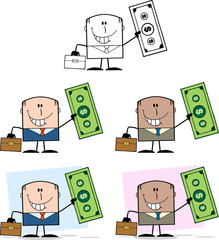Businessman Dude Character 8. Collection Set