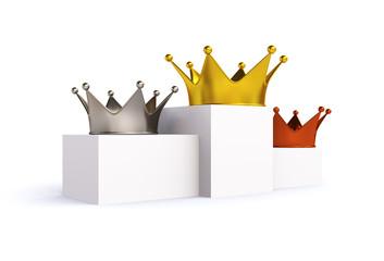 3D crown medalist