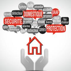 nuage de mots main maison : sécurité domestique