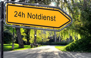 Strassenschild 25 - 24h Notdienst
