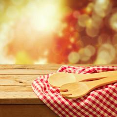 Autumn background with kitchen utensil
