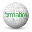 """Globe - Nuage de Tags """"FORMATION"""" (cv études diplômes carrière)"""