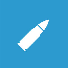bullet icon, white on the blue background .