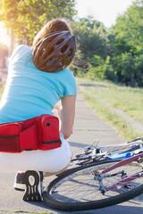 Cycling injury.