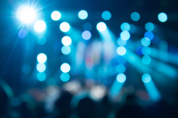 Defocused crowd on a concert.