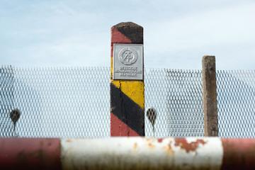 an der ehemaligen innerdeutschen Grenze, DDR BRD
