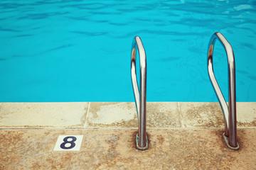 Swimming pool detail close up