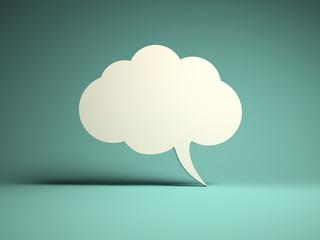 Cloud bubble icon for message