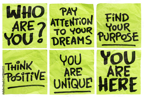 Fototapeta question and motivational phrases