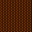 Halloween Seamless Dots Pattern Orange and Black