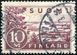 stamp printed by Finland, shows Lake Saima