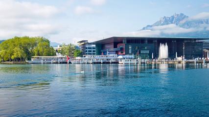 Luzern, Hafen und Pilatus