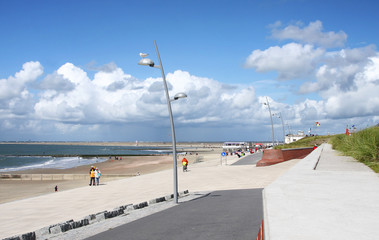 erneuerte Promenade