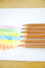 pencils coloring on paper