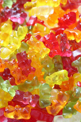 Gummy bear background