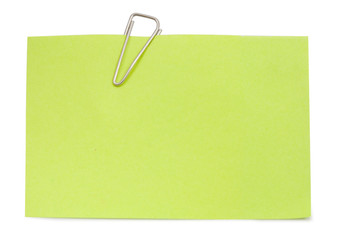 Note with paper clip