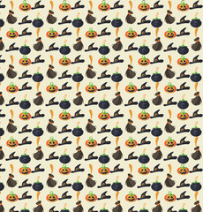 Halloween pattern and background