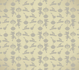 happy Halloween background in cartoon style