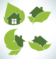 ecological homes signs and icons