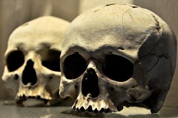 Real human skulls in bone chapel in Kutna Hora