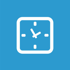 time icon, white on the blue background .