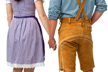Paar in bayrischer Tracht
