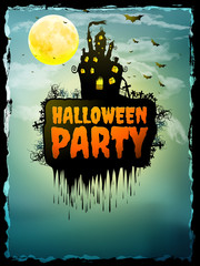 Happy Halloween party Poster. EPS 10